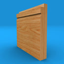Single Step C Grooved Solid Oak Skirting Board