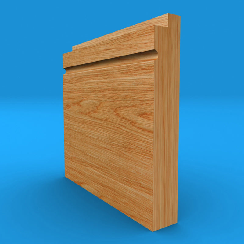 Single Step C Grooved Oak Skirting Board