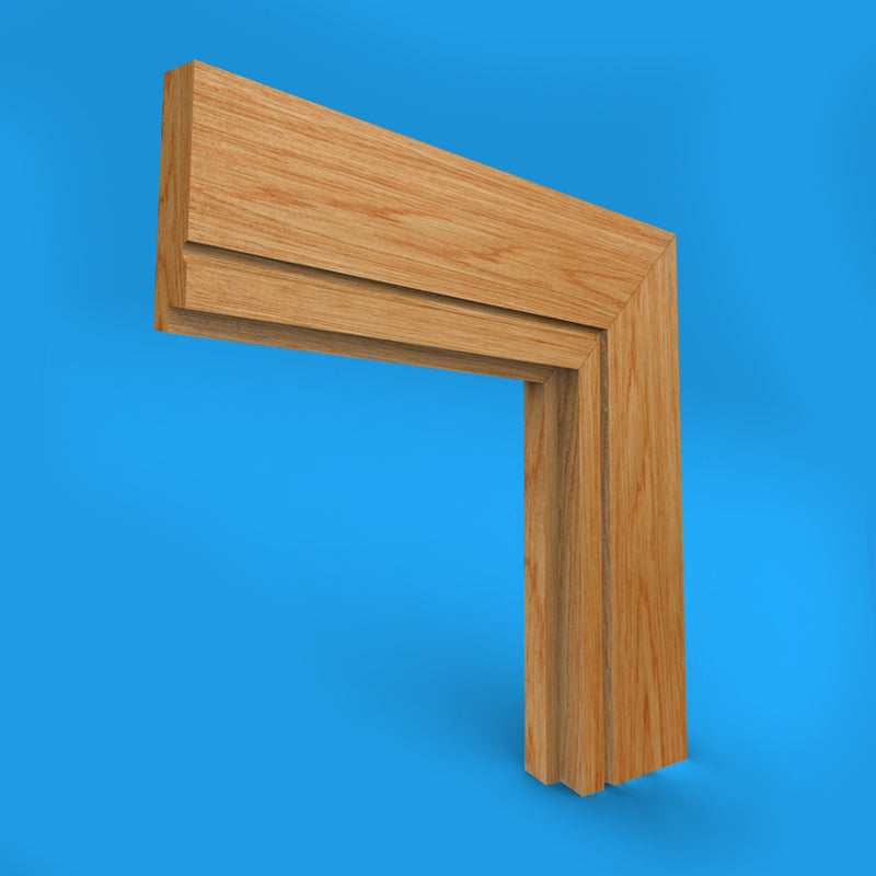 Single Step C Grooved Oak Architrave