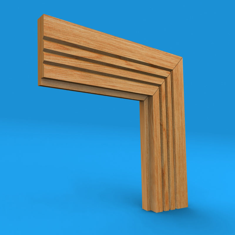 Single Step V Grooved 3 Oak Architrave