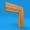 Square Edge C Grooved 2 Oak Architrave