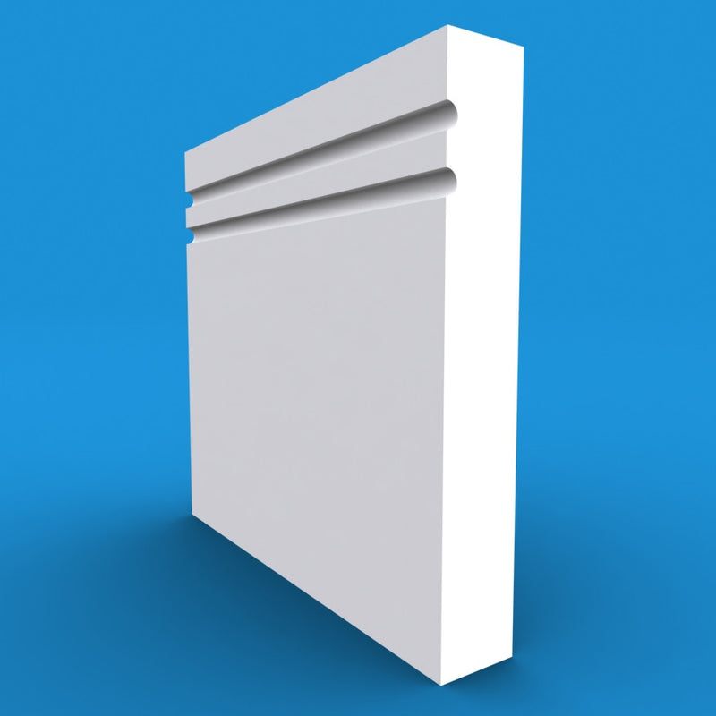 Square Edge C Grooved 2 MDF Skirting Board