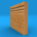 Square Edge C Grooved 2 Solid Oak Skirting Board