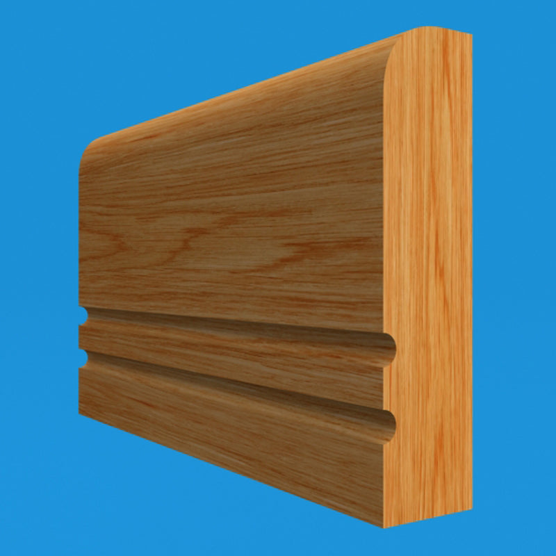 Square Edge C Grooved 2 Oak Dado Rail
