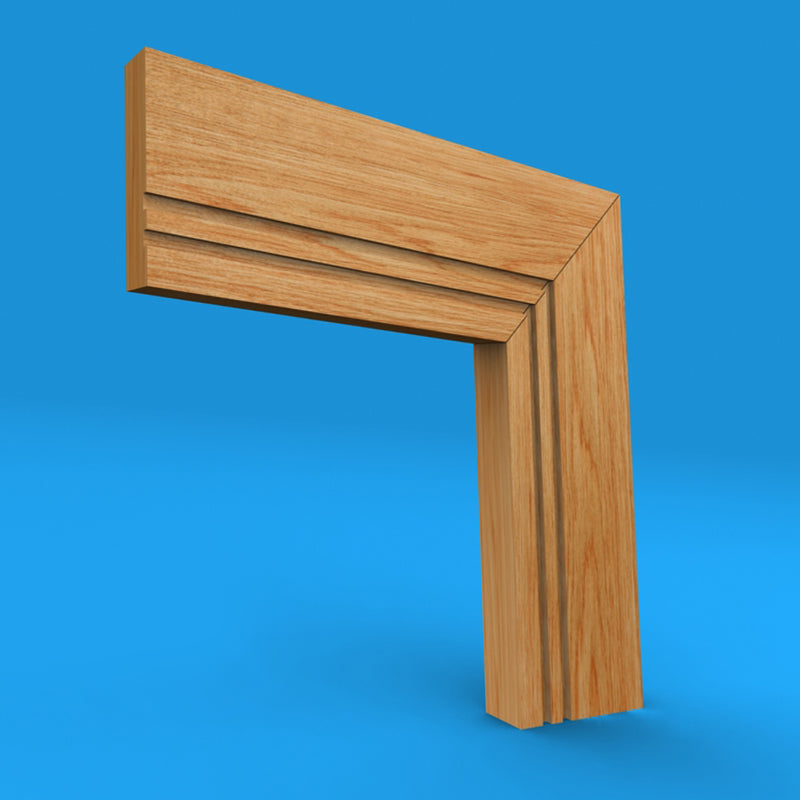 Square Edge Grooved 2 Oak Architrave