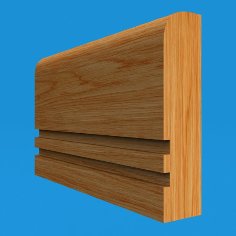 Square Edge Grooved 2 Oak Dado Rail