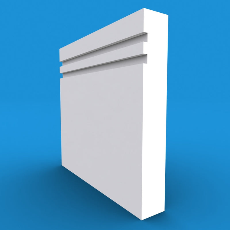 Square Edge Grooved 2 MDF Skirting Board