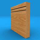 Square Edge V Grooved 2 Solid Oak Skirting Board