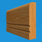 Square Edge V Grooved 2 Oak Dado Rail