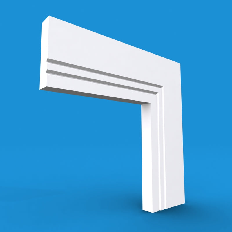 Square Edge V Grooved 2 MDF Architrave