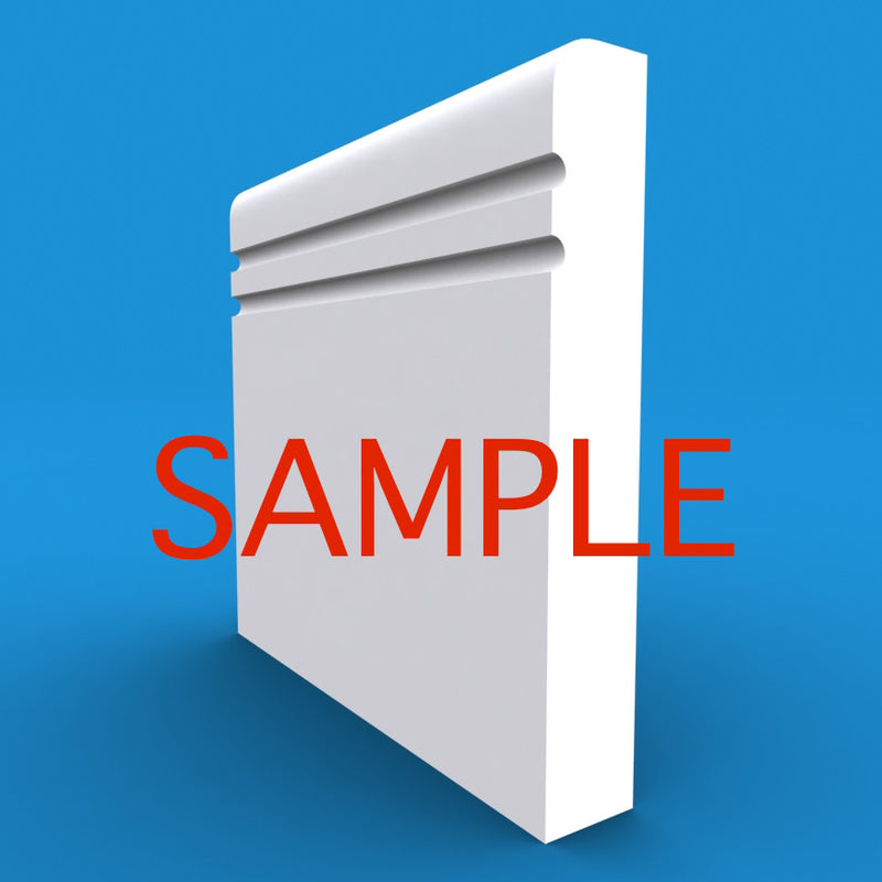 Bullnose C Grooved 2 MDF Skirting Sample