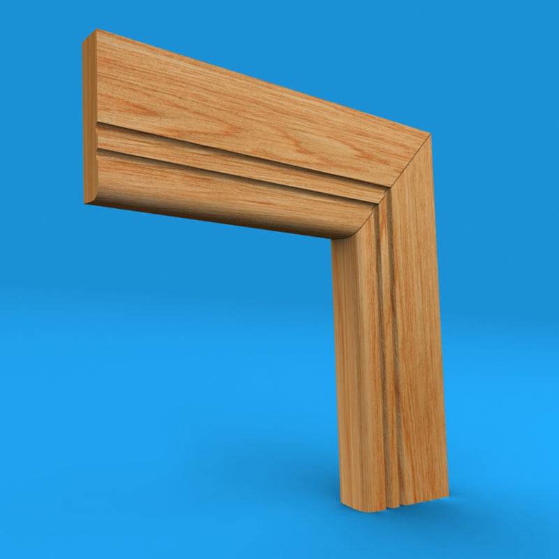 Bullnose C Grooved 2 Oak Architrave
