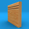 Bullnose C Grooved 2 Solid Oak Skirting Board