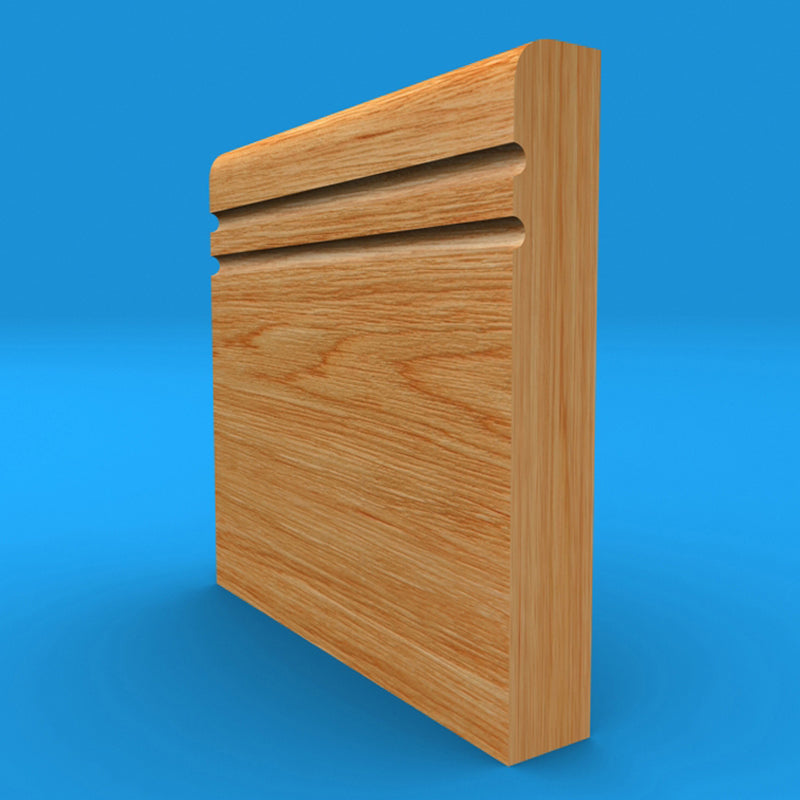 Bullnose C Grooved 2 Oak Skirting Board