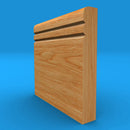 Bullnose V Grooved 2 Solid Oak Skirting Board