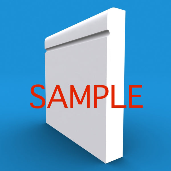 Bullnose C Grooved MDF Skirting Sample