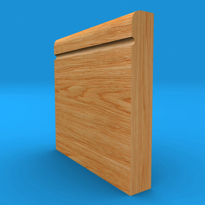 Bullnose C Grooved Solid Oak Skirting Board