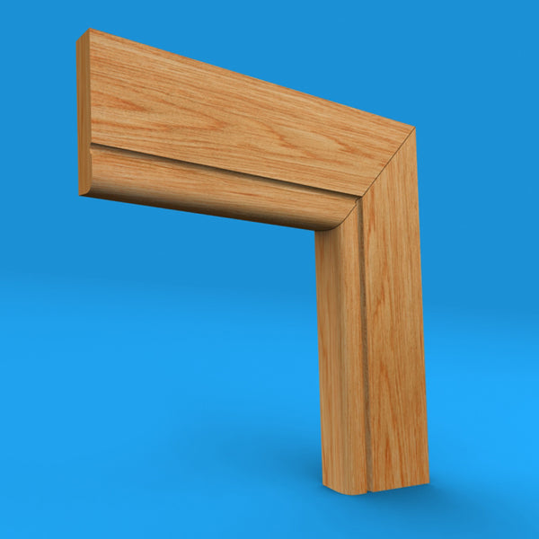 Bullnose C Grooved Oak Architrave