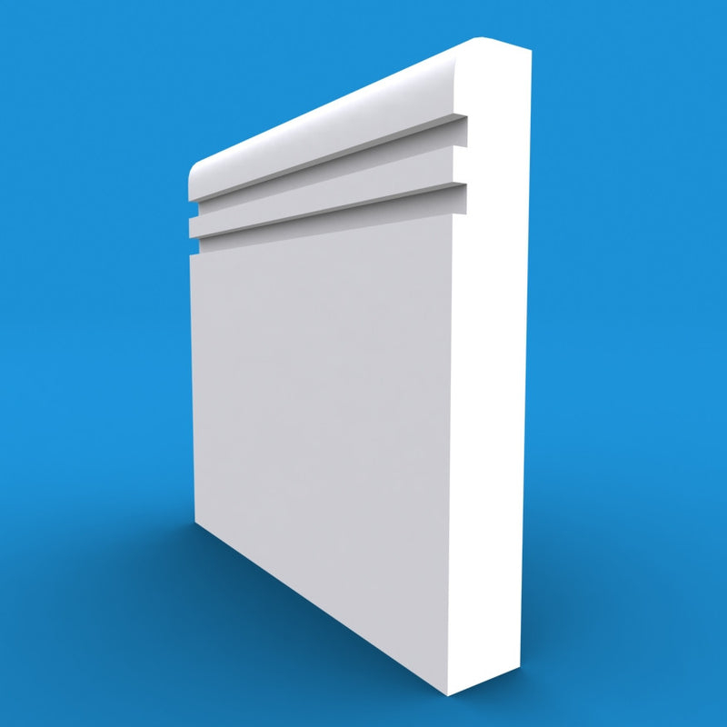 Bullnose Grooved 2 MDF Skirting Board