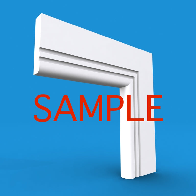 Bullnose Grooved 2 MDF Architrave Sample