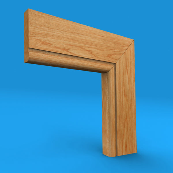 Bullnose Grooved Oak Architrave