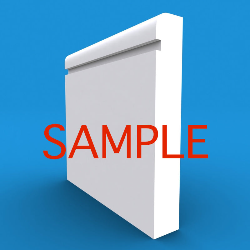 Bullnose Grooved MDF Skirting Sample