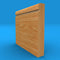 Bullnose Grooved Solid Oak Skirting Board
