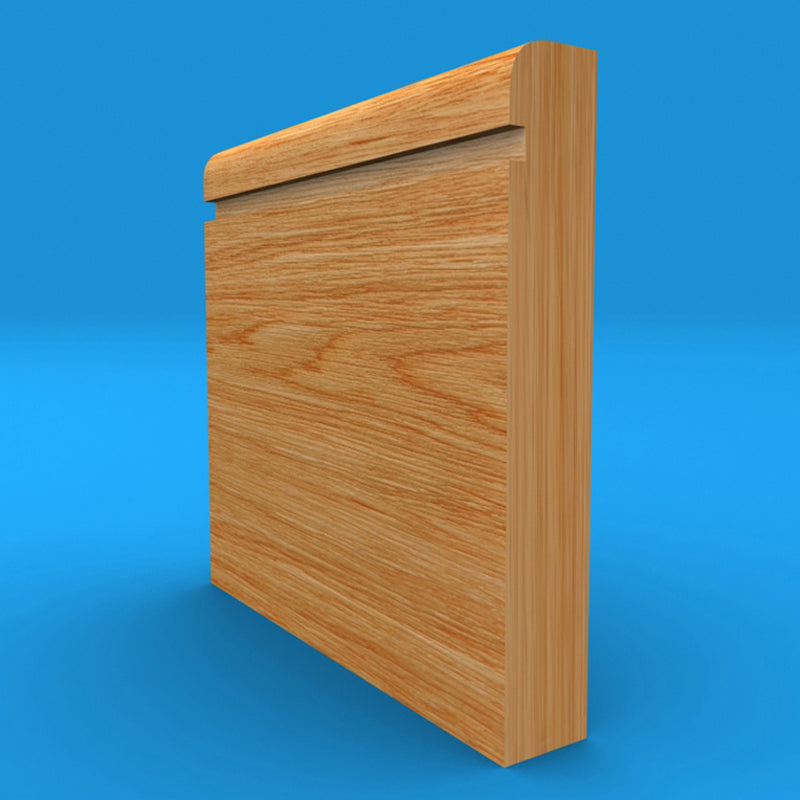 Bullnose Grooved Oak Skirting Board