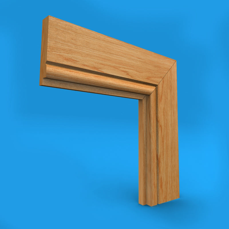 Single Step V Grooved Oak Architrave