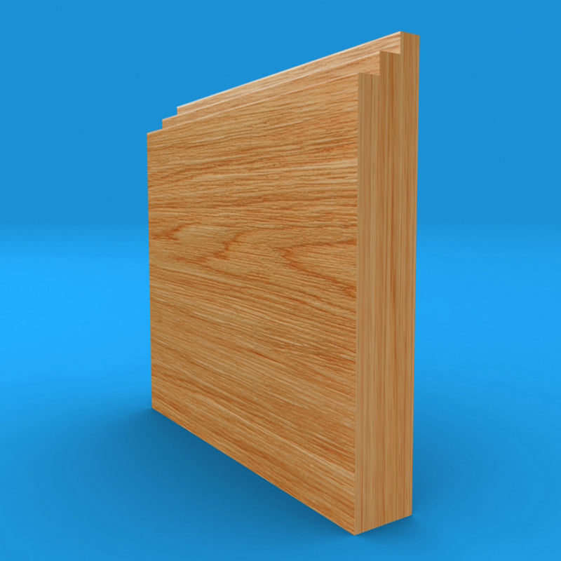 Stepped Solid Oak Skirting Board