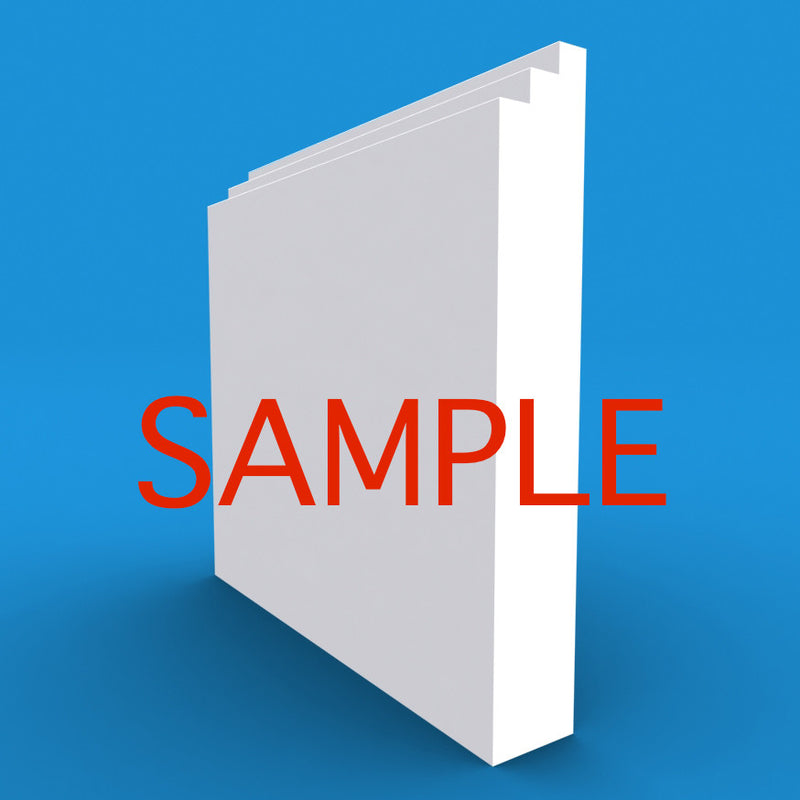 Stepped MDF Skirting Sample