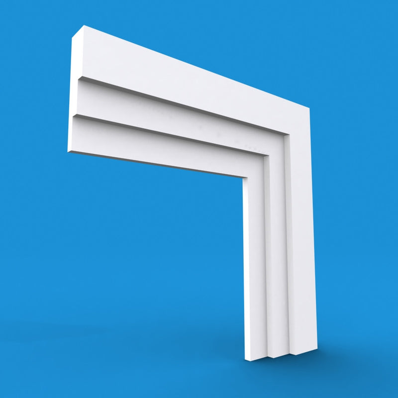 Large Stepped MDF Architrave