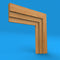Large Stepped Oak Architrave