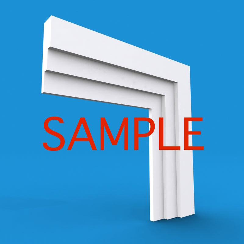 Large Stepped MDF Architrave Sample