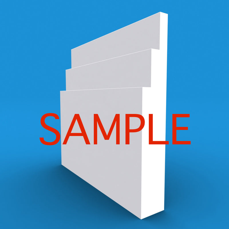 Large Stepped MDF Skirting Sample