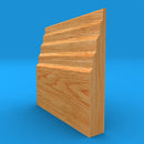 Stepped 3 Solid Oak Skirting Board