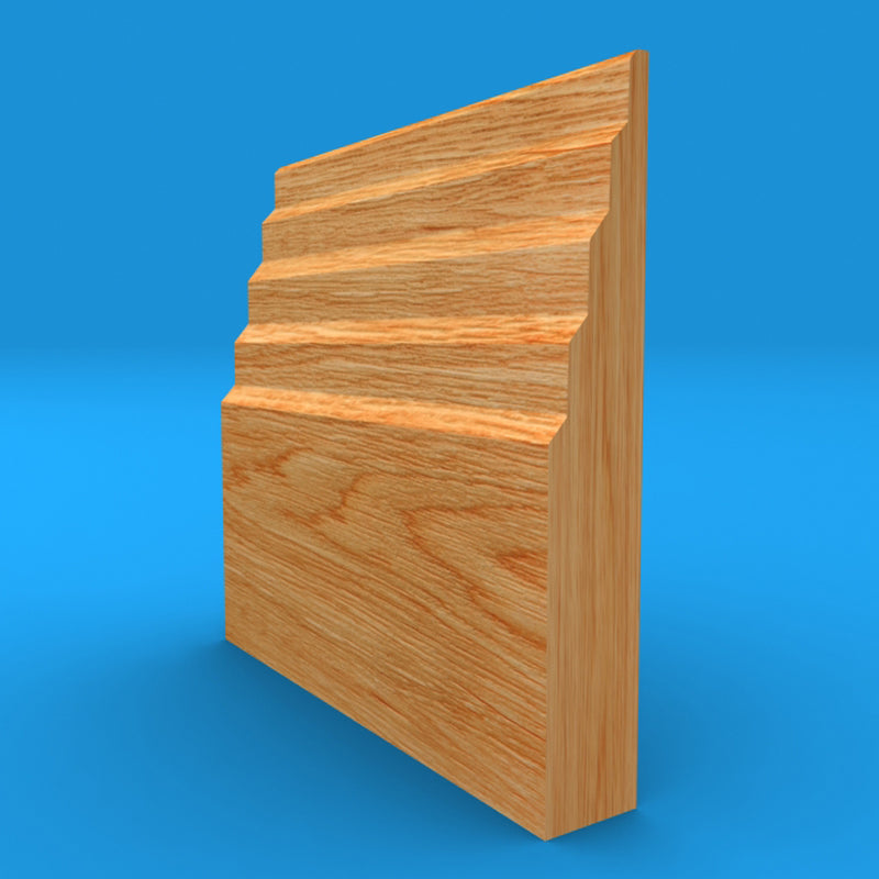 Stepped 3 Oak Skirting Board