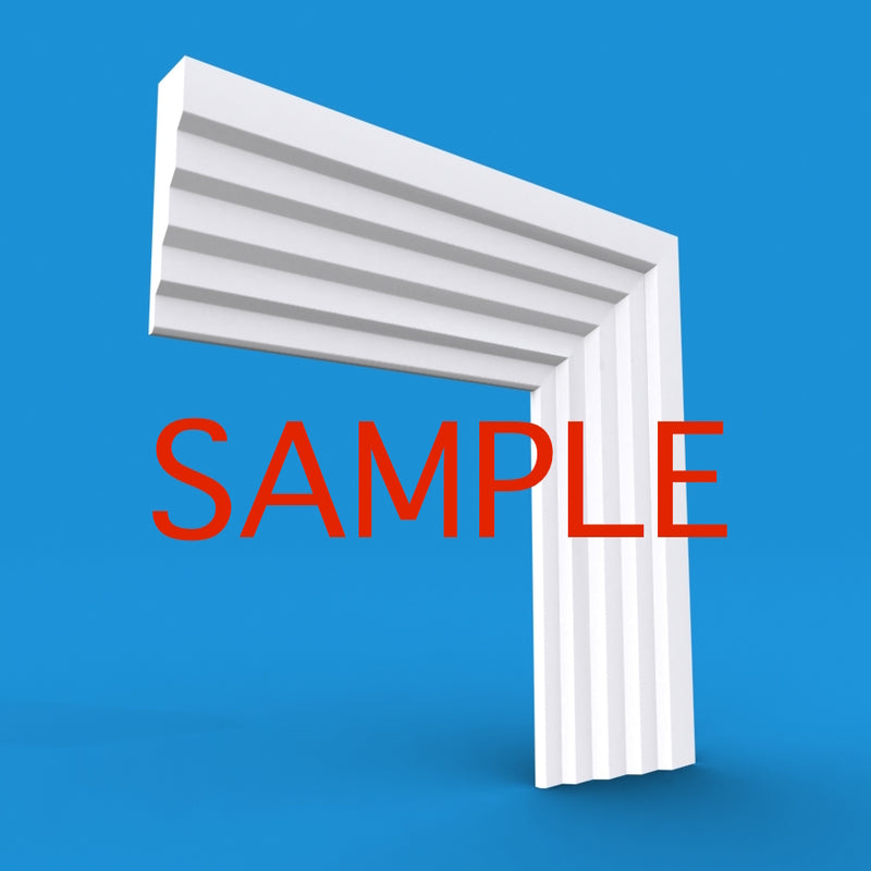 Stepped 3 MDF Architrave Sample