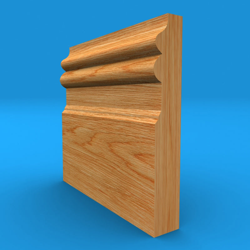 Regency B Solid Oak Skirting Board