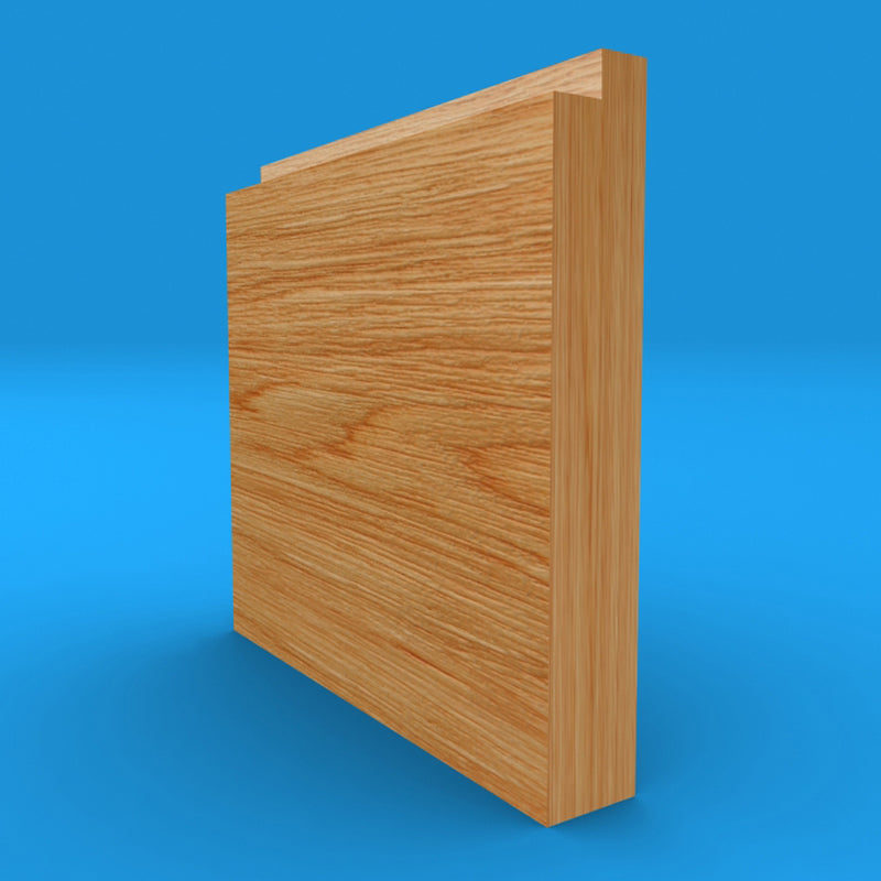 Single Step Oak Skirting Board
