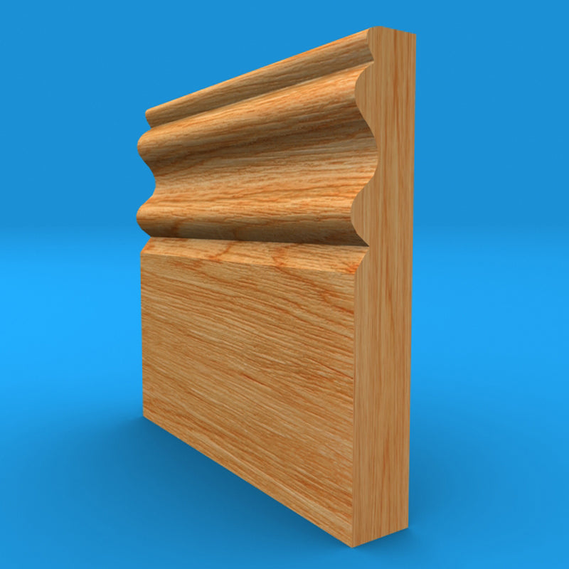 Regency D Solid Oak Skirting Board