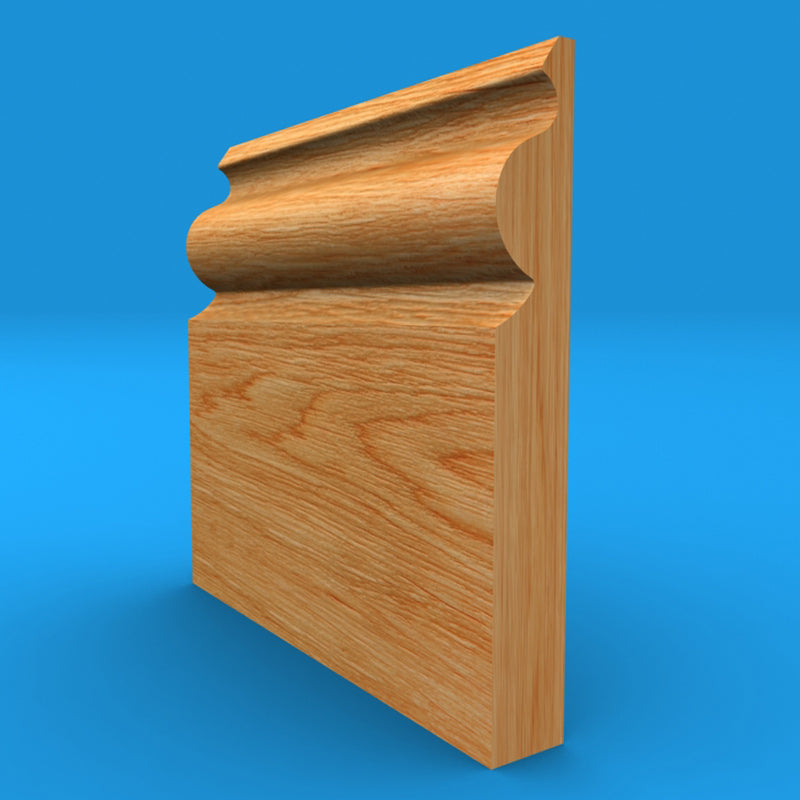 Regency Ogee Solid Oak Skirting Board