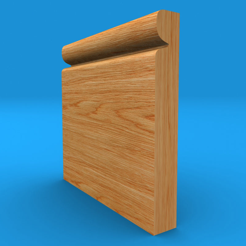 Reveal Solid Oak Skirting Board