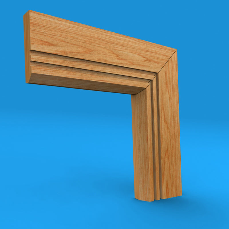 Edge Grooved 2 Oak Architrave