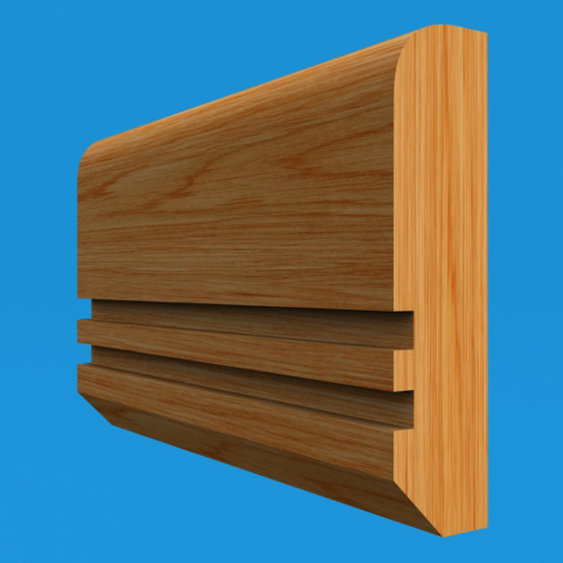 Edge Grooved 2 Oak Dado Rail