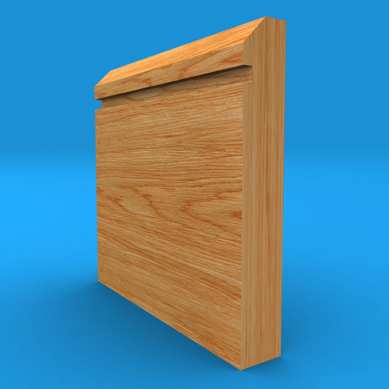 Edge Grooved Solid Oak Skirting Board