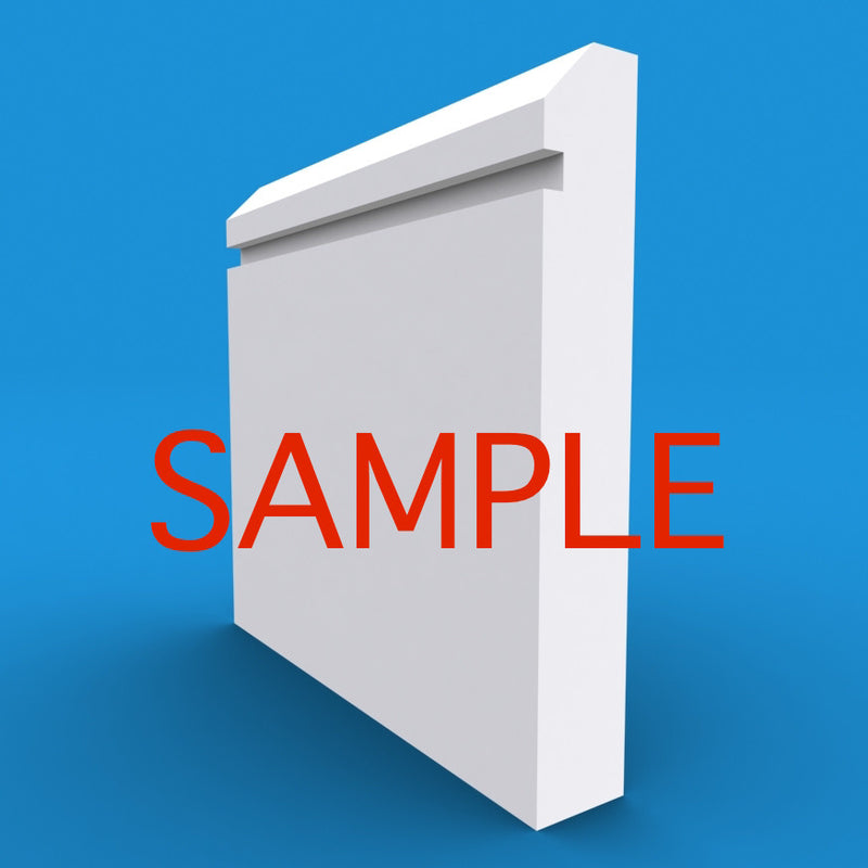 Edge Grooved MDF Skirting Sample