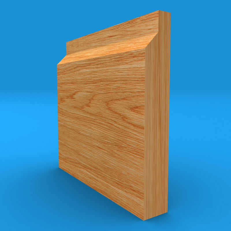 Rebate 45 Solid Oak Skirting Board