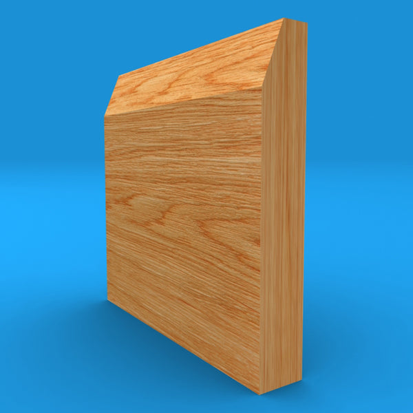 Chamfered Square Solid Oak Skirting Board