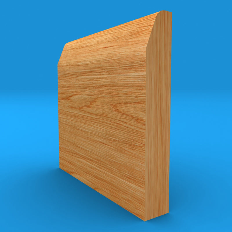 Chamfered Round Solid Oak Skirting Board